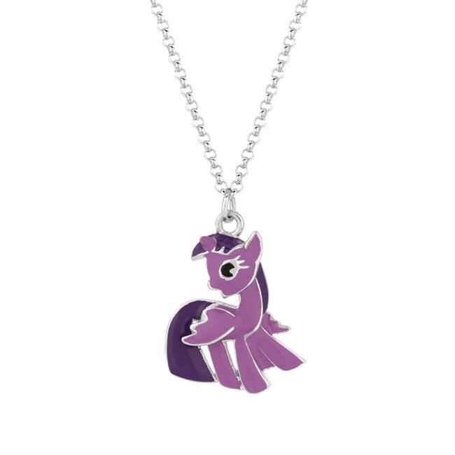 Silverplated Twighlight Sparkle My Little Pony Pendant Ne...