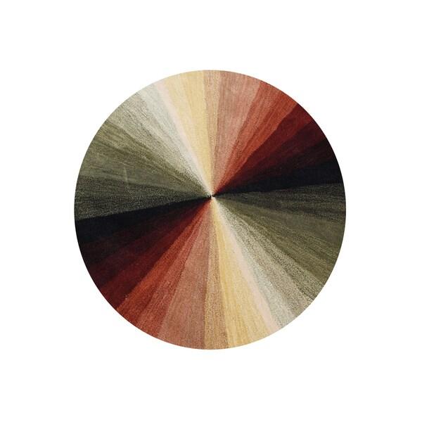 Alliyah Handmade Black New Zealand Blend Wool Area Rug (8' Round)