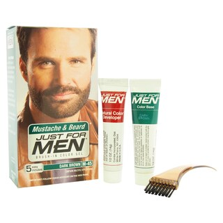 Just for Men Brush-in Dark Brown Mustache and Beard Gel Color