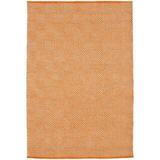 Hand-woven Orange Jute Rug (4' x 6')