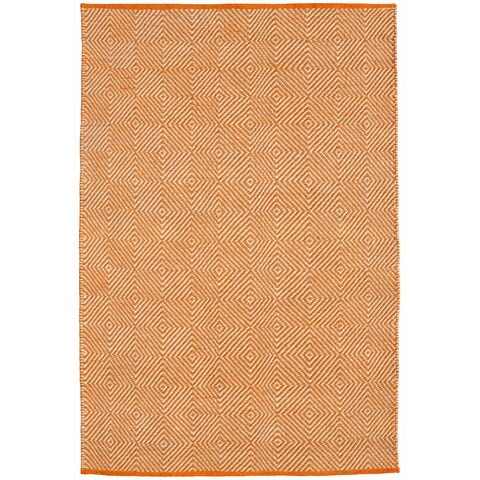 Hand-woven Orange Jute Rug (8' x 11') - 8' x 11'