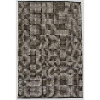 Hand-woven Black Jute Rug (5' x 8')