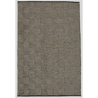 Hand-woven Black Jute Rug (5' x 8') - 5' x 8'
