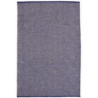 Hand-woven Blue Jute Rug (4' x 6')