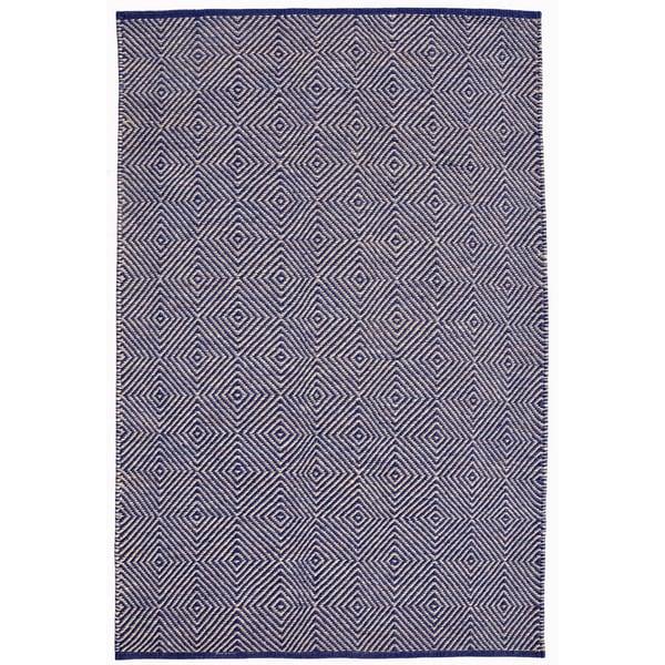 Hand-woven Blue Jute Rug (5' x 8')