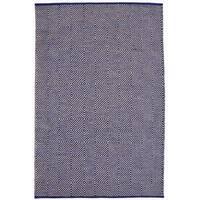 Hand-woven Blue Jute Rug (6' x 9') - 6' x 9'