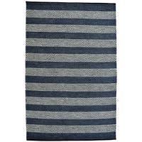 Hand-woven Blue Contemporary Tie Die Rug (5' x 8') - 5' x 8'