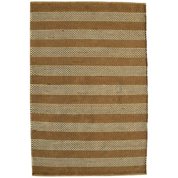Hand-woven Beige Contemporary Tie Die Rug (6' x 9') - 6' x 9'