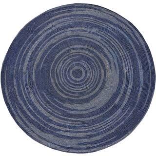 Hand-woven Blue Abrush Braided Jute Rug (8' x 8' Round)|https://ak1.ostkcdn.com/images/products/8973756/Hand-woven-Blue-Abrush-Braided-Jute-Rug-8-x-8-Round-P16181775.jpg?impolicy=medium