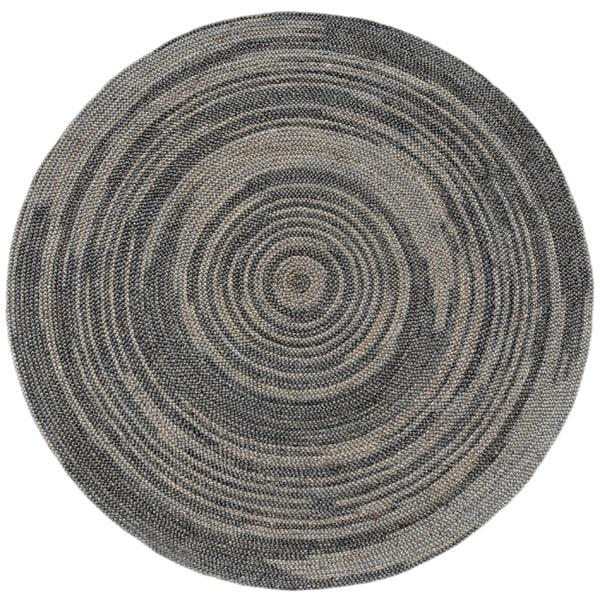 Shop Hand Woven Grey Abrush Braided Jute Rug 6 X 6