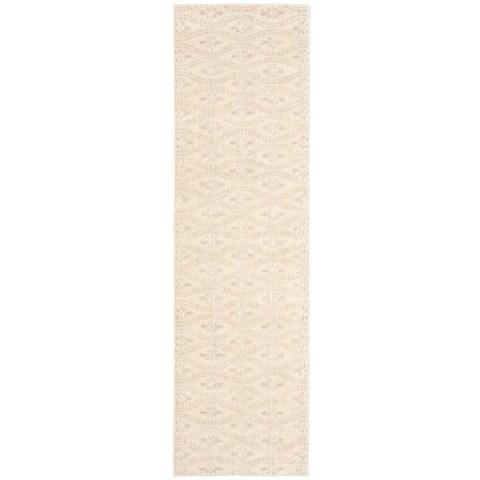 "Calvin Klein Nara Frost Ivory Area Rug by Nourison - 2'3"" x 8' Runner"