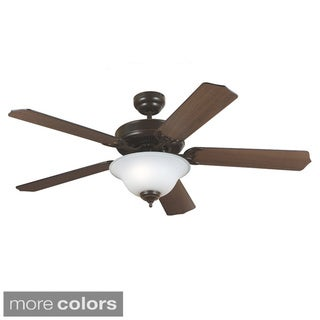 Quality Max Plus Cerused Oak/ Ebony Blades Ceiling Fan