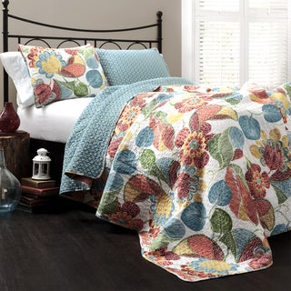 The Curated Nomad La Boheme 3-piece Floral Quilt Set (2 options available)