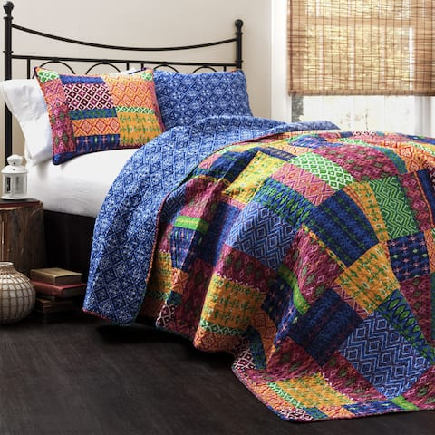 The Curated Nomad Doherty Multicolored 3-piece Quilt Set