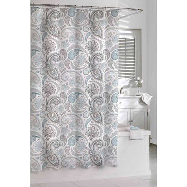 Turquoise And Coral Shower Curtain. Garden Paisley Blue Grey Shower Curtain  Free Shipping On Orders