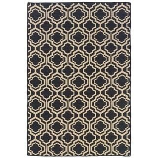 Linon Foundation Collection Grey Monocco Reversible Rug (5' x 8')