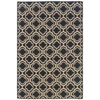 Linon Foundation Collection Grey Monocco Reversible Rug (5' x 8') - 5' x 8'