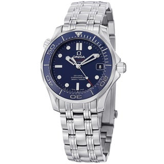 Omega Men's 212.30.36.20.03.001 'Seamaster300' Blue Dial Stainless Steel Automatic Watch