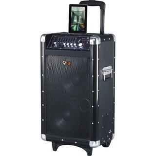 QFX PBX-3080BT Speaker System - Wireless Speaker - Black - USB