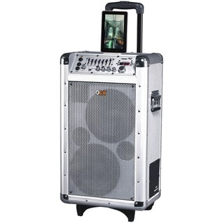 QFX PBX-3081BT Speaker System - Wireless Speaker - Silver - USB