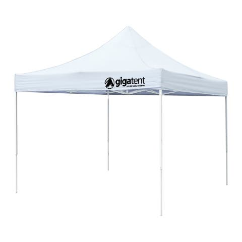 """GigaTent Classic 10' x 10' Height up to 130"""" Canopy White"""