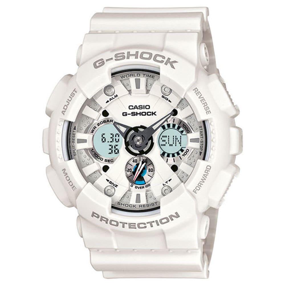 Casio Men's 'G-Shock' GA120A-7A White Resin Watch (White)...