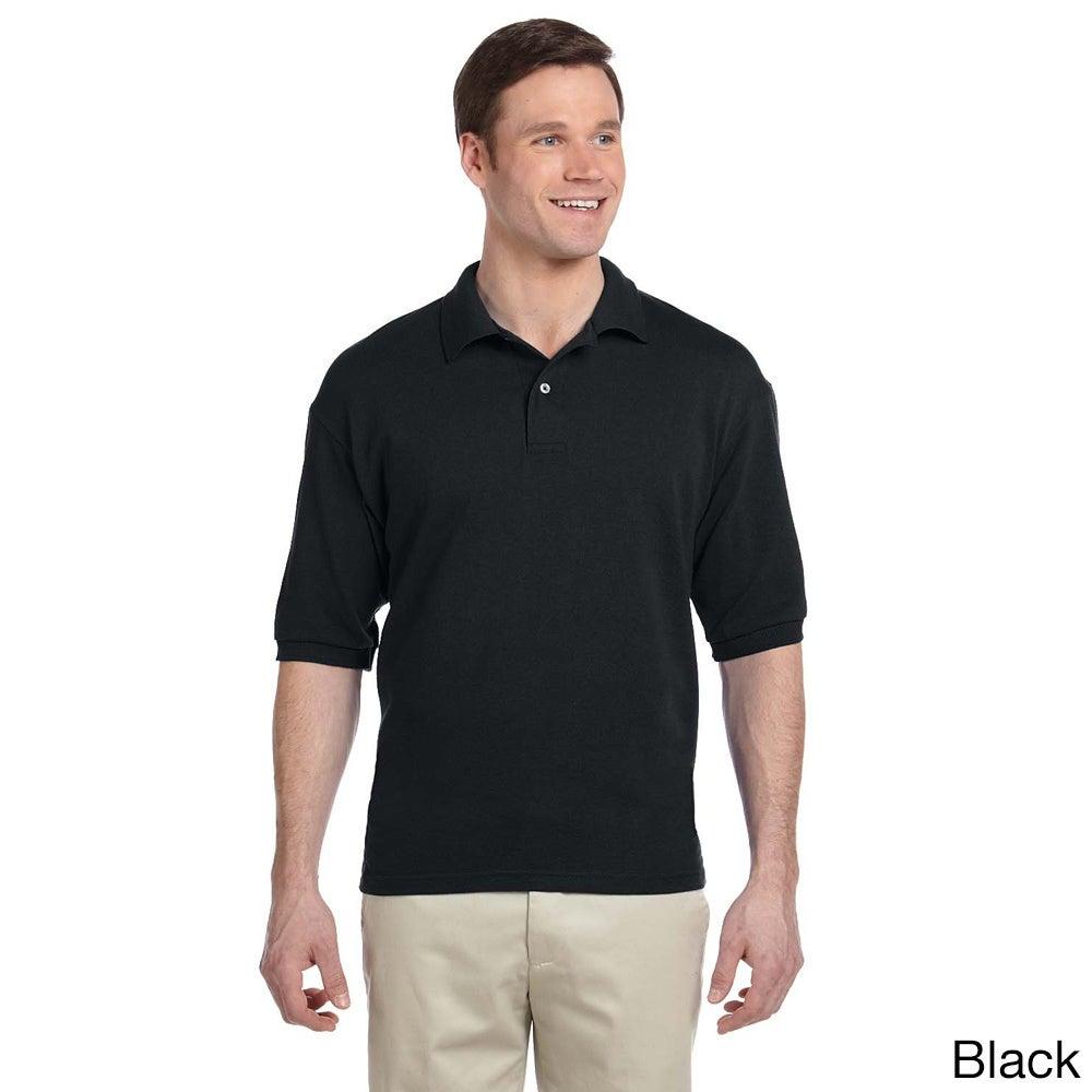 Jerzees Men's 50/50 Pique Sport Shirt with SpotShield (3X...