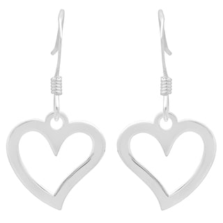 Sterling Essentials Sterling Silver Open Heart Drop Earrings
