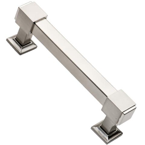 Southern Hills 4-inch Satin Nickel Cabinet Pulls (Pack of 5)