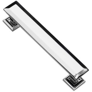Southern Hills Polished Chrome Cabinet Pull 'Englewood' (Pack of 25) - Chrome/Brown