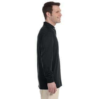 Jerzees Men's 50/50 Long Sleeve Jersey Polo
