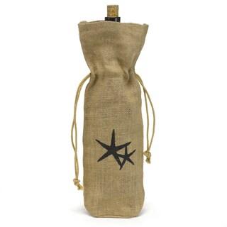 Hortense B. Hewitt Starfish Burlap Wine Bag