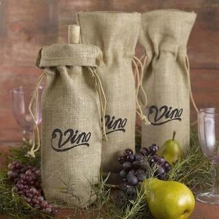 Hortense B. Hewitt Vino! Burlap Wine Bag