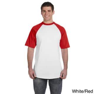 Augusta Sportswear Men's 50/50 Short Sleeve Raglan T-shirt|https://ak1.ostkcdn.com/images/products/8976141/Augusta-Sportswear-Mens-50-50-Short-Sleeve-Raglan-T-shirt-P16183766.jpg?impolicy=medium