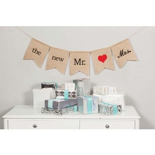 Hortense B. Hewitt The Future Mr. & Mrs. Burlap Banner