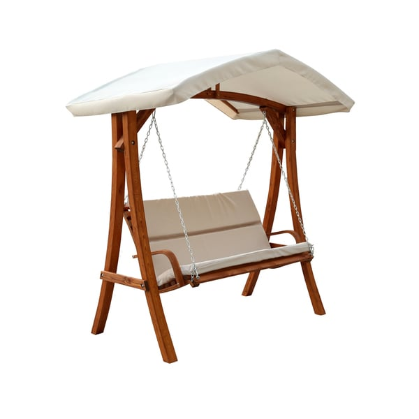 Wooden Swing Seater with Canopy