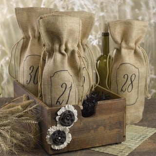 Hortense B. Hewitt Burlap Wine Bag Table Numbers, 21-30