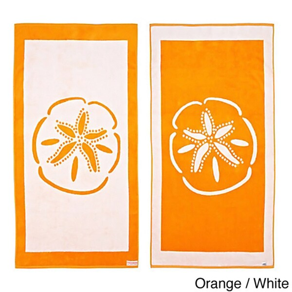 Sand Dollar Reversible Oversized Beach Towel Free