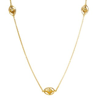 Sonia Bitton 18k Yellow Goldplated Sterling Silver Star Station Necklace