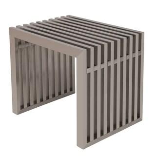 LeisureMod Sage Gridiron Stainless Steel Bench-Small