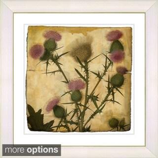 Zhee Singer 'Vintage Botanical No 038 - Antiqued' Framed Fine Art Print