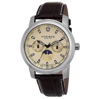 Akribos XXIV Men's Swiss Quartz Moon Phase Multifunction Brown Strap Watch with FREE GIFT|https://ak1.ostkcdn.com/images/products/8976301/Akribos-XXIV-Mens-Swiss-Quartz-Moon-Phase-Multifunction-Strap-Watch-P16183865.jpg?impolicy=medium