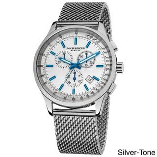Akribos XXIV Men's Swiss Quartz Chronograph Mesh Stainless Steel Strap Bracelet
