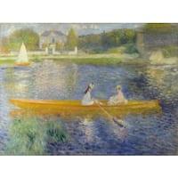 Pierre-Auguste Renoir 'The Skiff' Oil on Canvas Art - Multi