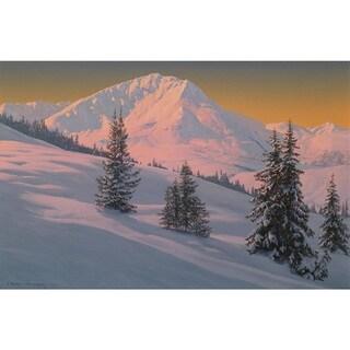 Snow Mountain' Oil on Canvas Art - Multi