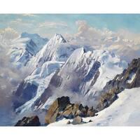 'Glacier' Oil on Canvas Art - Multi