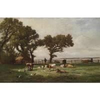 'Grazing' Oil on Canvas Art - Multi
