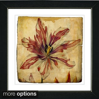 Zhee Singer 'Vintage Botanical No 24 - Antiqued' Framed Fine Art Print (4 options available)