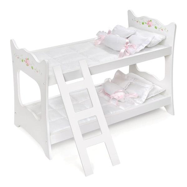 Badger Basket White Rose Doll Bunk Bed