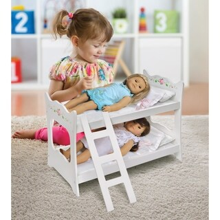 Badger Basket White Rose Doll Bunk Bed